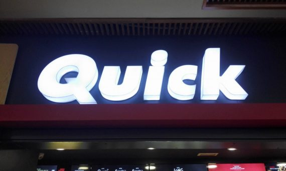 Lettrage plexi & façade alucobond Quick Tunisie